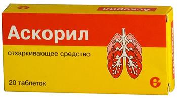 отхаркивающие таблетки Аскорил